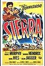 Audie Murphy, Wanda Hendrix, Burl Ives, and Richard Rober in Sierra (1950)
