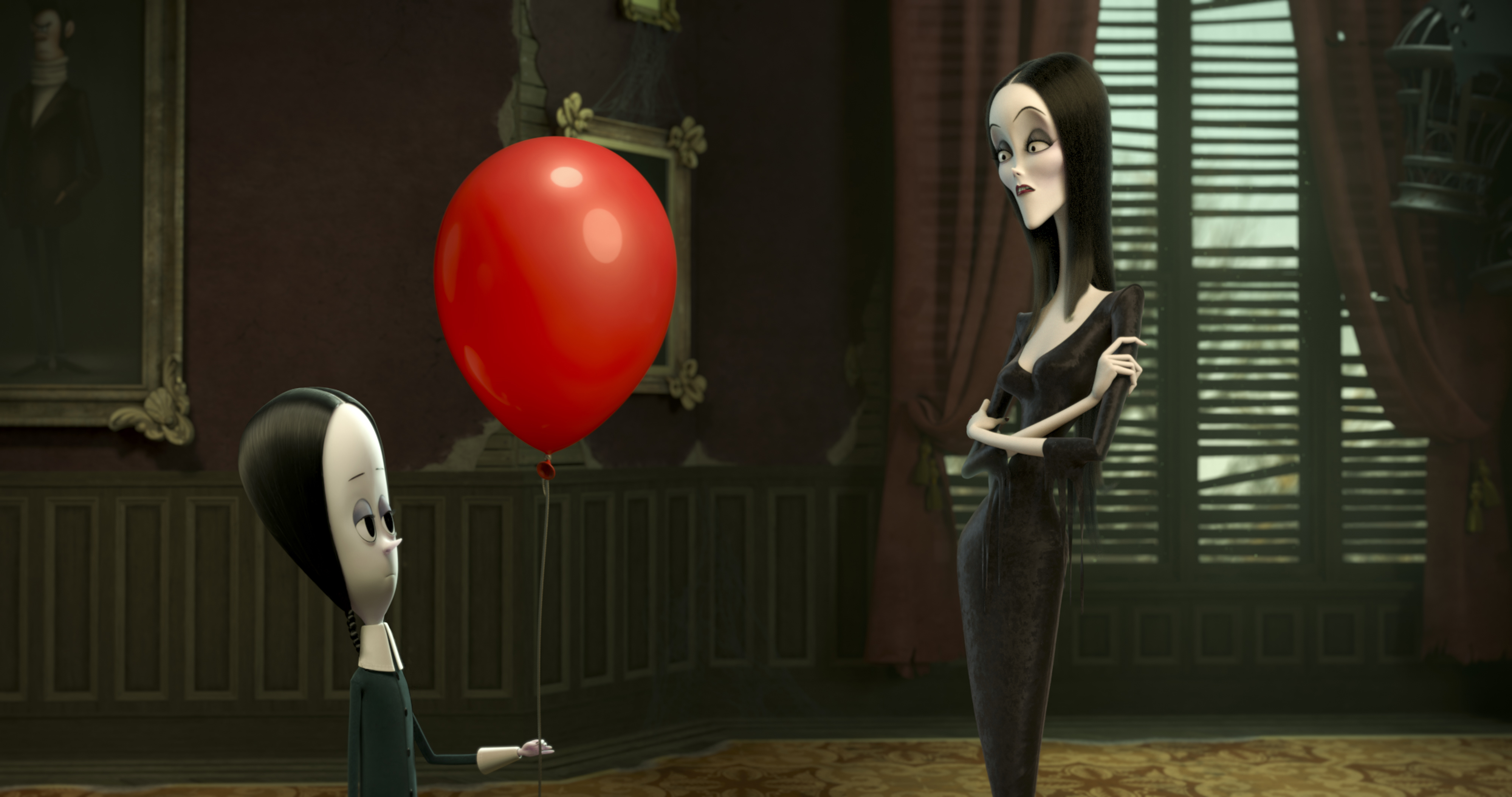 Charlize Theron and Chloë Grace Moretz in The Addams Family (2019)
