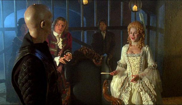 Julie Benz, David Boreanaz, and Mark Metcalf in Angel (1999)