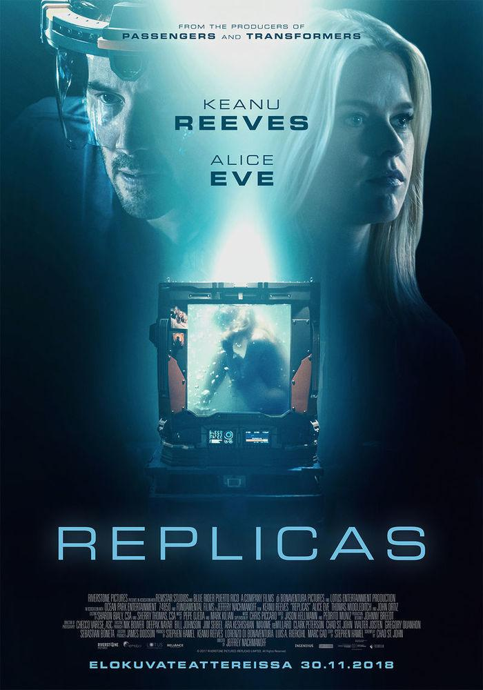 Keanu Reeves and Alice Eve in Replicas (2018)