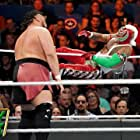 Rey Mysterio and Joe Seanoa in WWE Money in the Bank (2019)