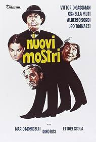 Ornella Muti, Vittorio Gassman, Alberto Sordi, and Ugo Tognazzi in I nuovi mostri (1977)