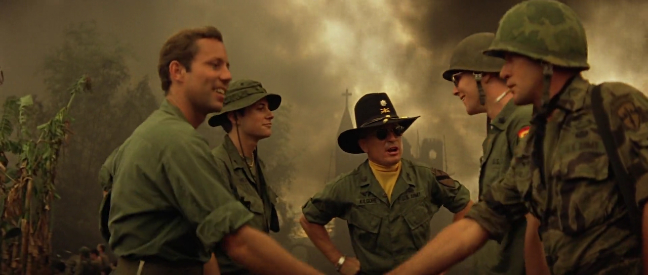 Robert Duvall, Martin Sheen, Sam Bottoms, Jerry Ross, and Kerry Rossall in Apocalypse Now (1979)
