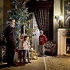 "Me, Katie Mcgrath, Sam Heughan & Travis Turner on set in ""A Princess for Christmas"" aka ""A Christmas Princess"""