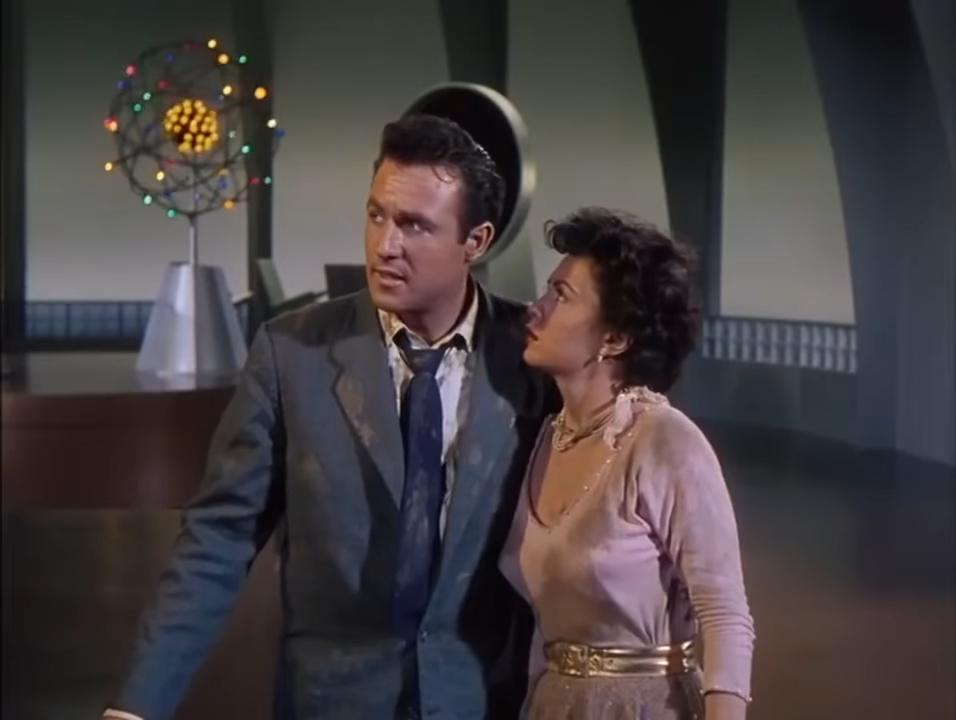 Faith Domergue and Rex Reason in This Island Earth (1955)
