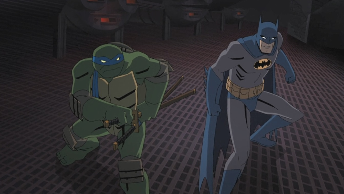 Eric Bauza and Troy Baker in Batman vs. Teenage Mutant Ninja Turtles (2019)