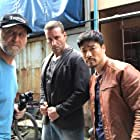 Together with Ron arm Byron on the set of English Dogs in Bangkok