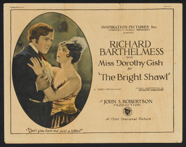 Richard Barthelmess and Dorothy Gish in The Bright Shawl (1923)