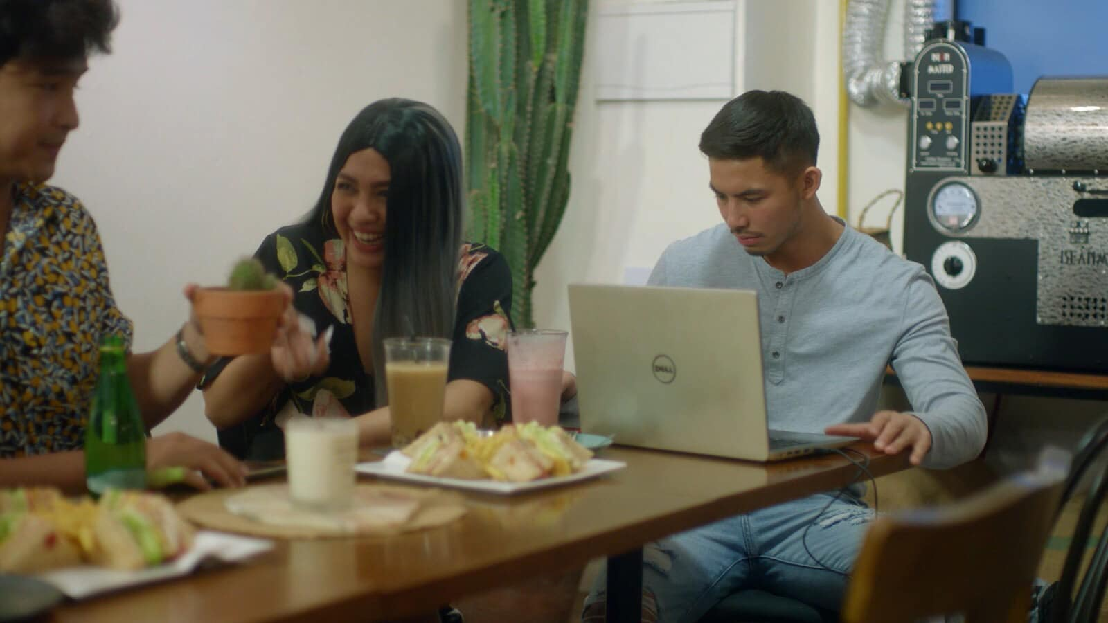 Jane Oineza, Jerome Ponce, and Tony Labrusca in Ang henerasyong sumuko sa love (2019)