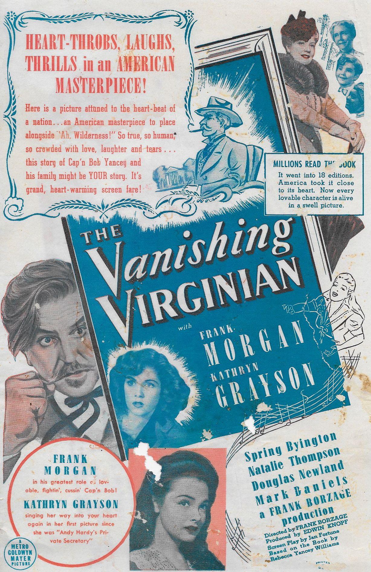 Spring Byington, Louise Beavers, Kathryn Grayson, Dickie Jones, Frank Morgan, Elizabeth Patterson, and Natalie Thompson in The Vanishing Virginian (1942)