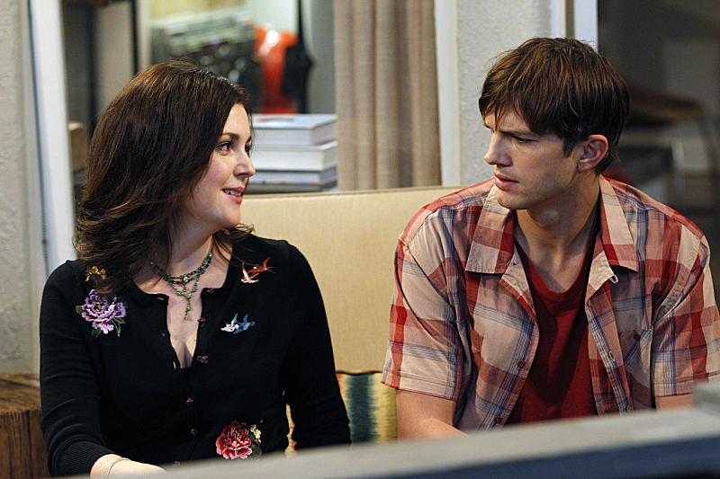Melanie Lynskey and Ashton Kutcher in Two and a Half Men (2003)