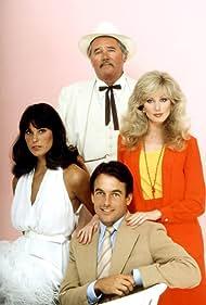Morgan Fairchild, Mark Harmon, Howard Duff, and Cristina Raines in Flamingo Road (1980)