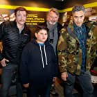 Sam Neill, Taika Waititi, Rhys Darby, and Julian Dennison at an event for Hunt for the Wilderpeople (2016)