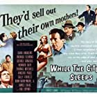 Dana Andrews, John Drew Barrymore, Vincent Price, George Sanders, Howard Duff, Rhonda Fleming, Sally Forrest, Ida Lupino, and Thomas Mitchell in While the City Sleeps (1956)