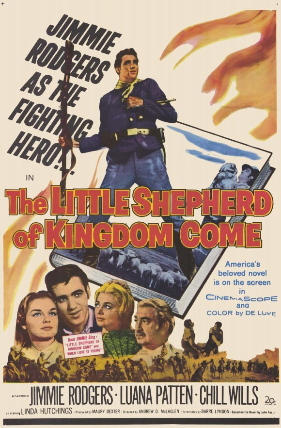 Linda Hutchings, Luana Patten, Jimmie Rodgers, and Chill Wills in The Little Shepherd of Kingdom Come (1961)