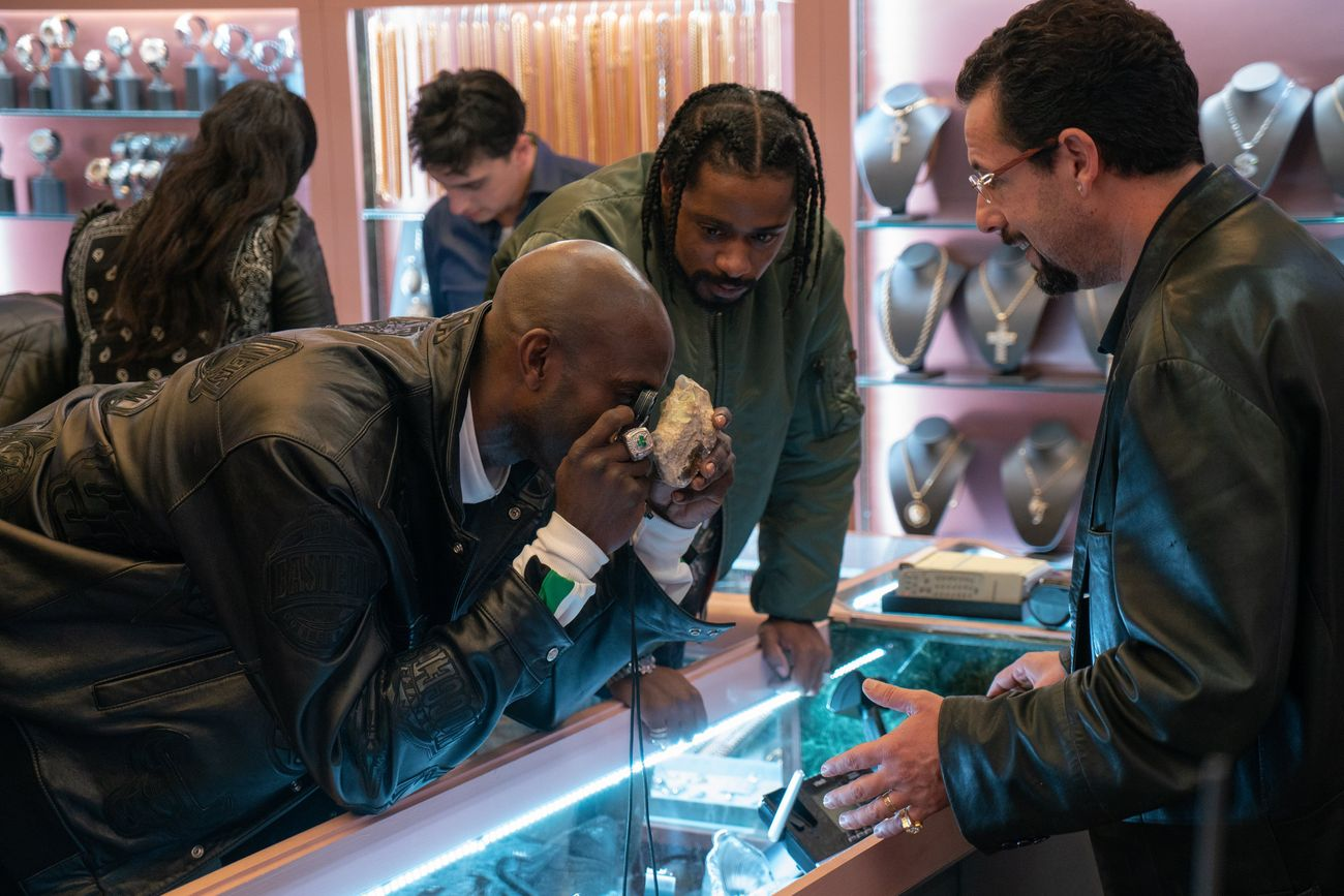 Adam Sandler, Kevin Garnett, and LaKeith Stanfield in Uncut Gems (2019)