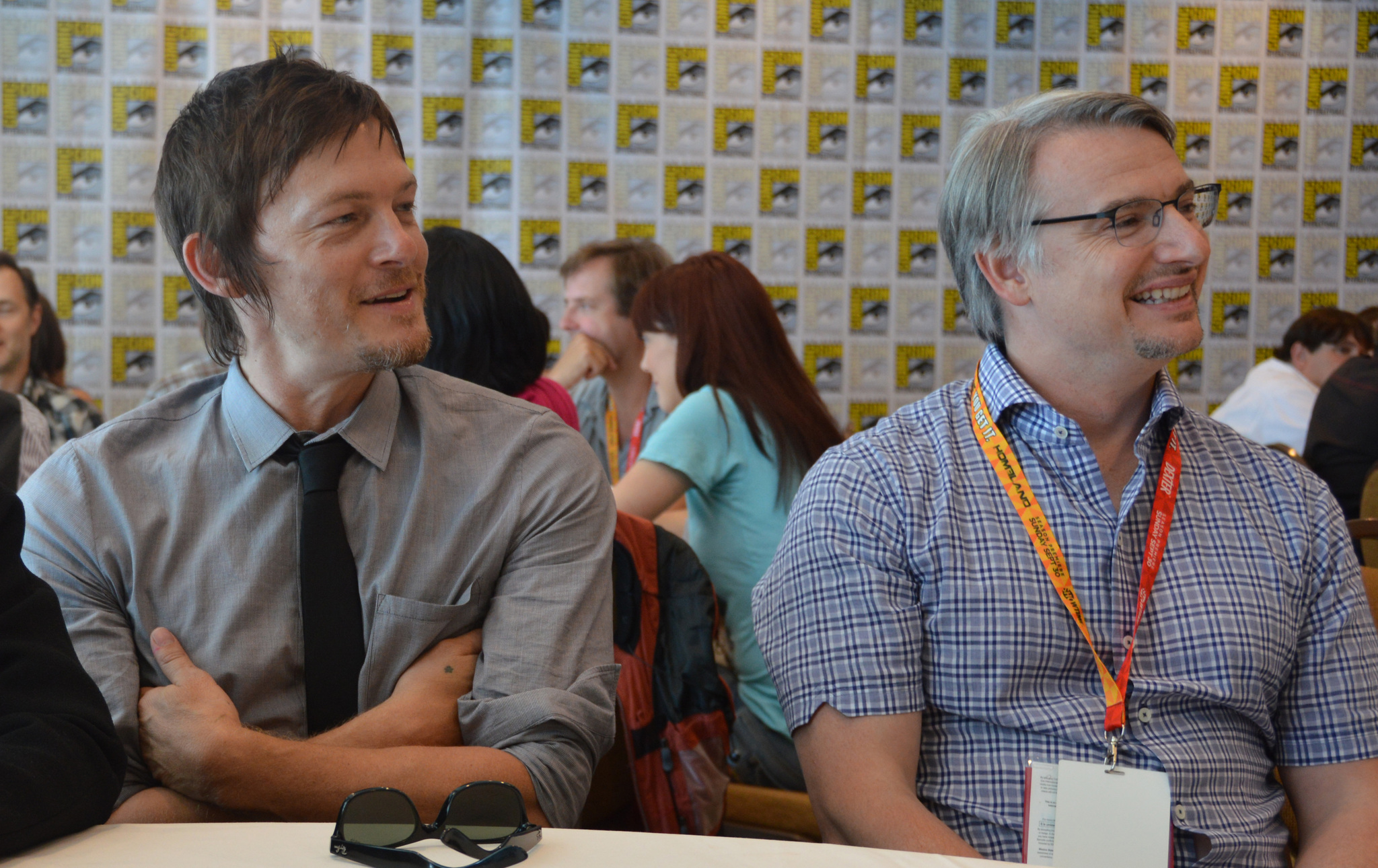 Norman Reedus and Glen Mazzara at an event for The Walking Dead (2010)