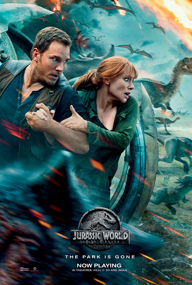 Jurassic World Fallen Kingdom 2018 Hindi ORG Dual Audio 450MB BluRay ESub Download