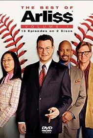 Michael Boatman, Sandra Oh, Jim Turner, and Robert Wuhl in Arli$$ (1996)