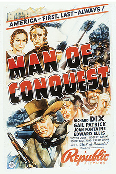 Richard Dix, Edward Ellis, George 'Gabby' Hayes, Ralph Morgan, and Gail Patrick in Man of Conquest (1939)