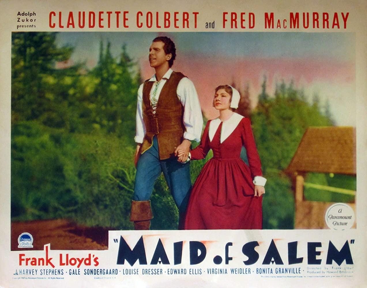 Claudette Colbert and Fred MacMurray in Maid of Salem (1937)