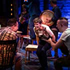 Caesar Samayoa, Nate Lueck, and Jenn Colella in Come from Away (2021)