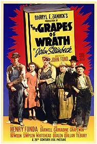 Henry Fonda, John Carradine, Jane Darwell, Dorris Bowdon, Frank Darien, and Russell Simpson in The Grapes of Wrath (1940)