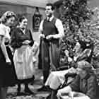 Sterling Holloway, Barbara Stanwyck, Beulah Bondi, Fred MacMurray, and Elizabeth Patterson in Remember the Night (1940)