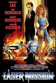Ernest Borgnine, Brandon Lee, Debi A. Monahan, and Werner Pochath in Laser Mission (1989)
