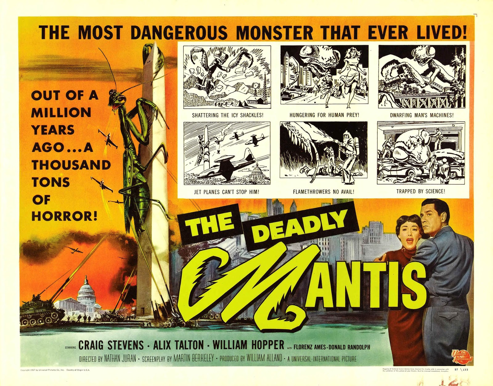 Watch the deadly mantis 1957 free online