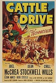 Dean Stockwell, Henry Brandon, and Joel McCrea in Cattle Drive (1951)