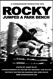 Rocky Jumped a Park Bench Poster