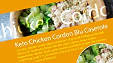 Keto Chicken Cordon Blu Cazuela con Brócoli