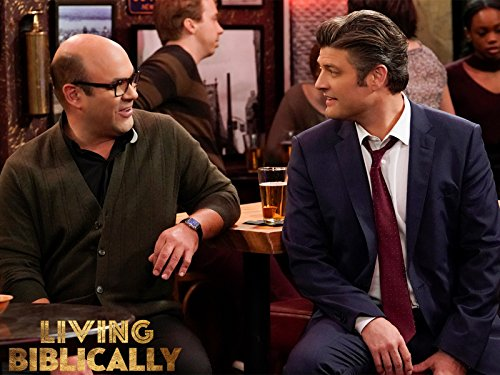 Jay R. Ferguson and Ian Gomez in Living Biblically (2018)
