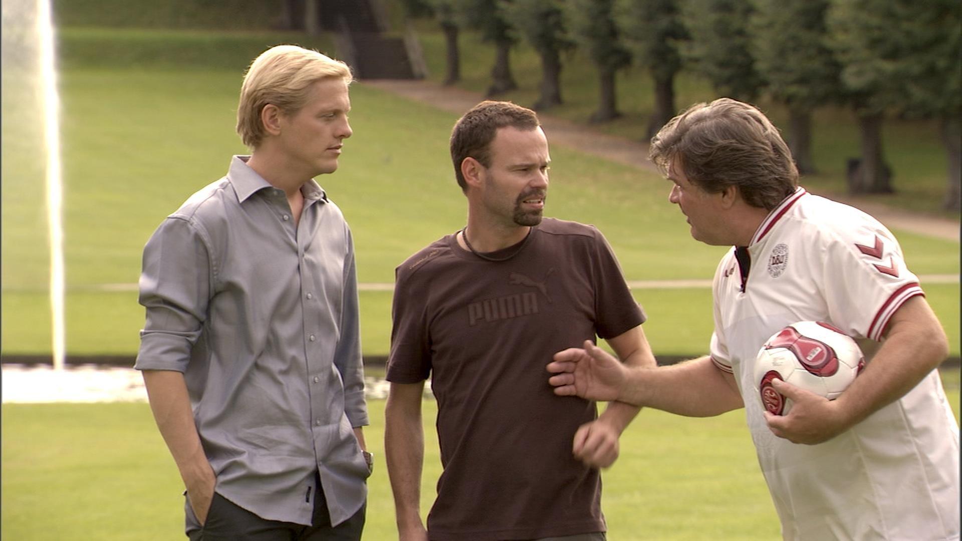 Dick Kaysø, Thure Lindhardt, and Mick Øgendahl in Blå mænd (2008)