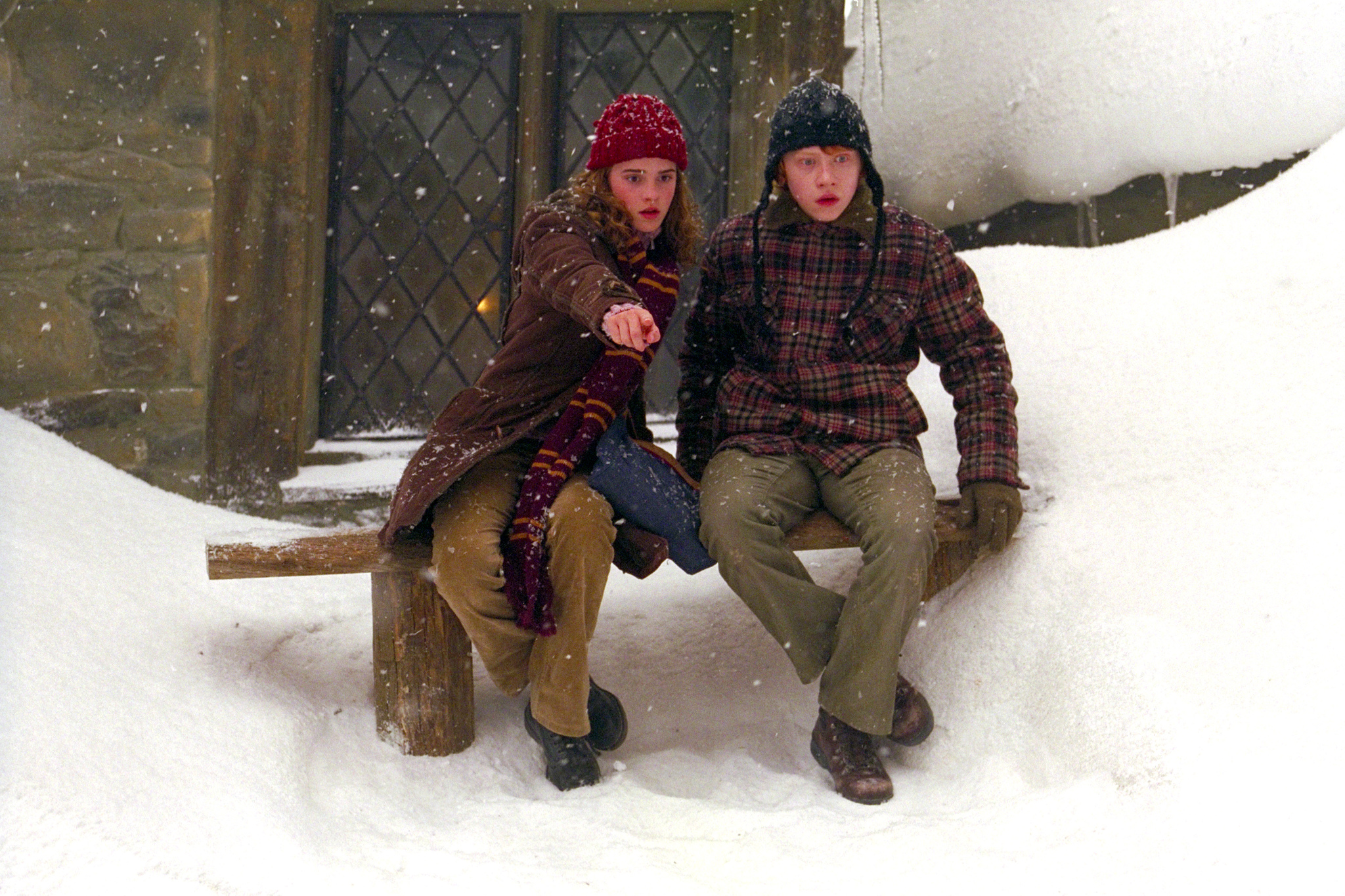 Rupert Grint and Emma Watson in Harry Potter and the Prisoner of Azkaban (2004)
