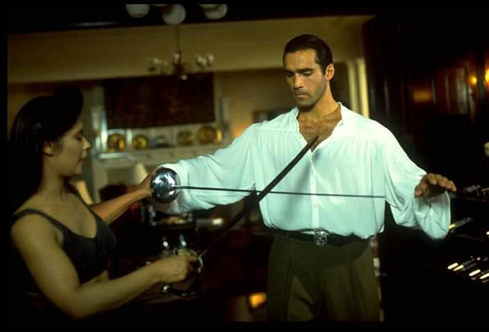 Adrian Paul and Vanity in Highlander (1992)