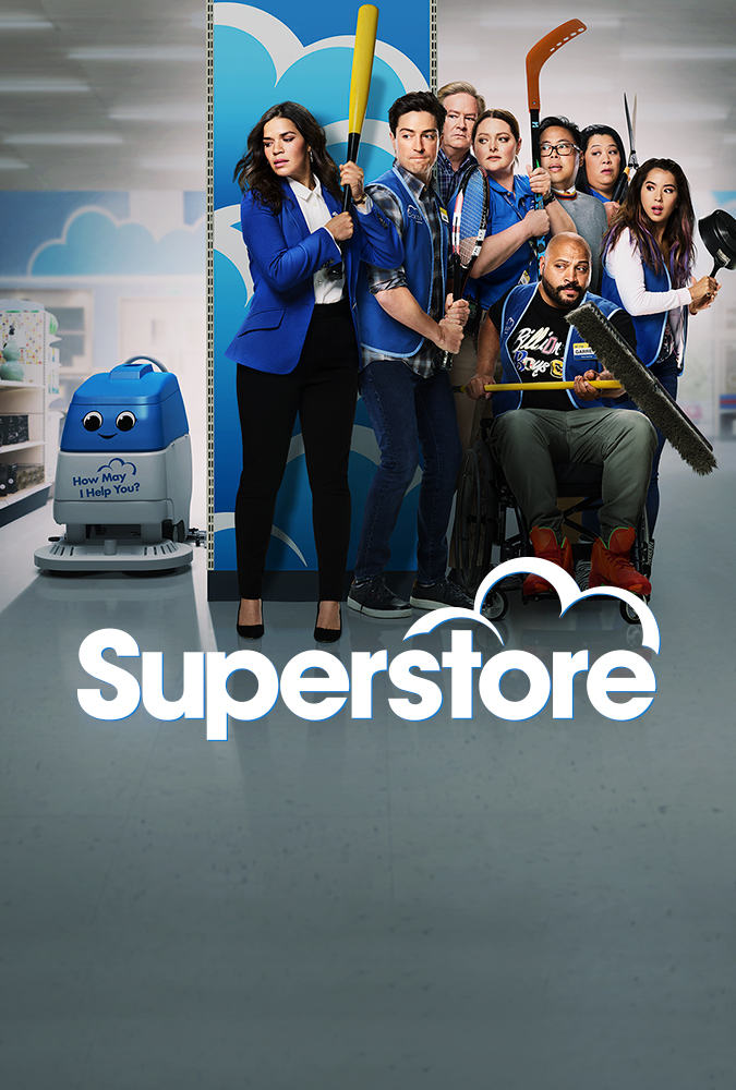 Mark McKinney, America Ferrera, Ben Feldman, Colton Dunn, Lauren Ash, Kaliko Kauahi, Nichole Bloom, and Nico Santos in Superstore (2015)