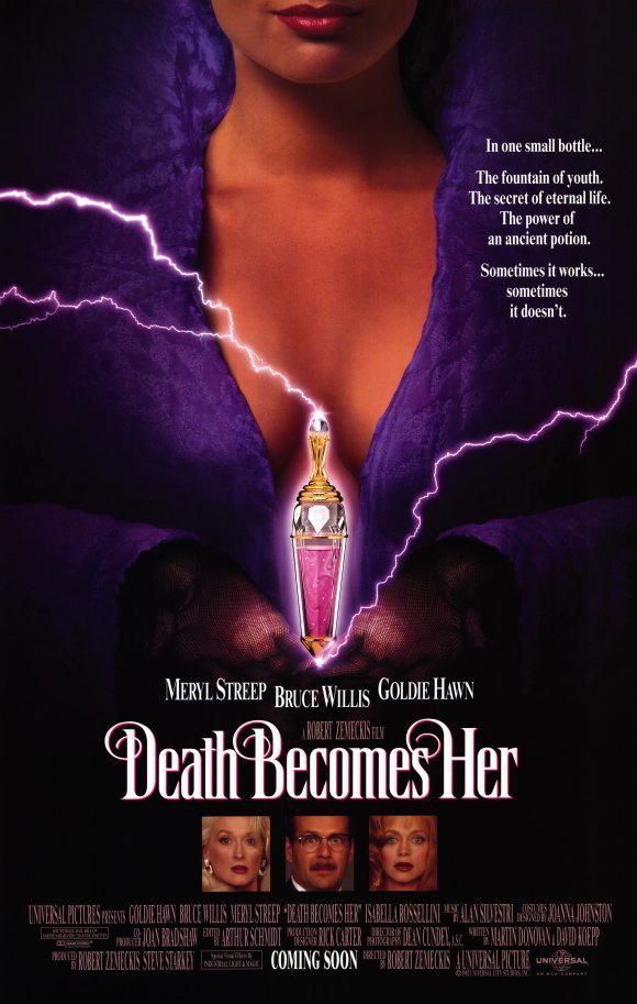 De film Death Becomes Her gaat over de dood maar komt met heel veel humor