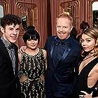 Jesse Tyler Ferguson, Sarah Hyland, Ariel Winter, and Nolan Gould at an event for 21st Annual Critics' Choice Awards (2016)