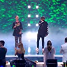 Amanda Holden, David Walliams, Simon Cowell, Alesha Dixon, and Bars & Melody in Britain's Got Talent: The Champions (2019)