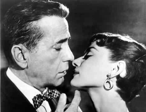 Humphrey Bogart and Audrey Hepburn in Sabrina 1954