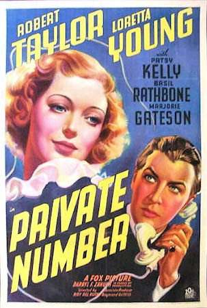 Robert Taylor and Loretta Young in Private Number (1936)