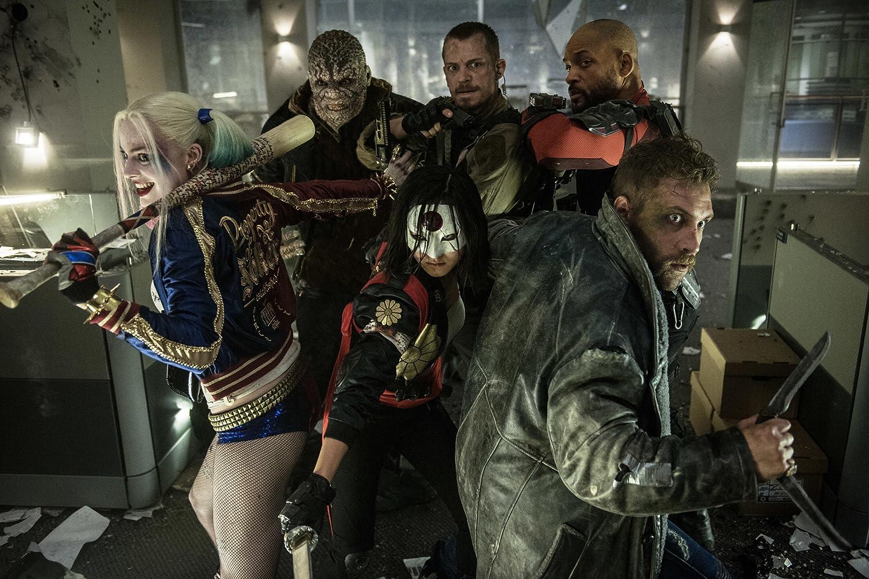Will Smith, Adewale Akinnuoye-Agbaje, Joel Kinnaman, Jai Courtney, Margot Robbie, and Karen Fukuhara in Suicide Squad (2016)