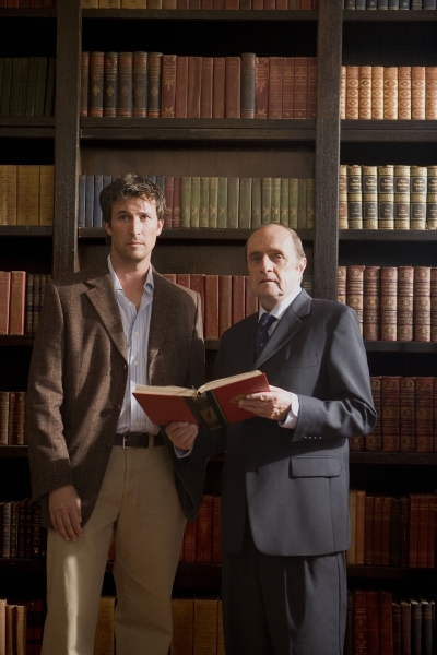 Noah Wyle and Bob Newhart in The Librarian: Return to King Solomon's Mines (2006)