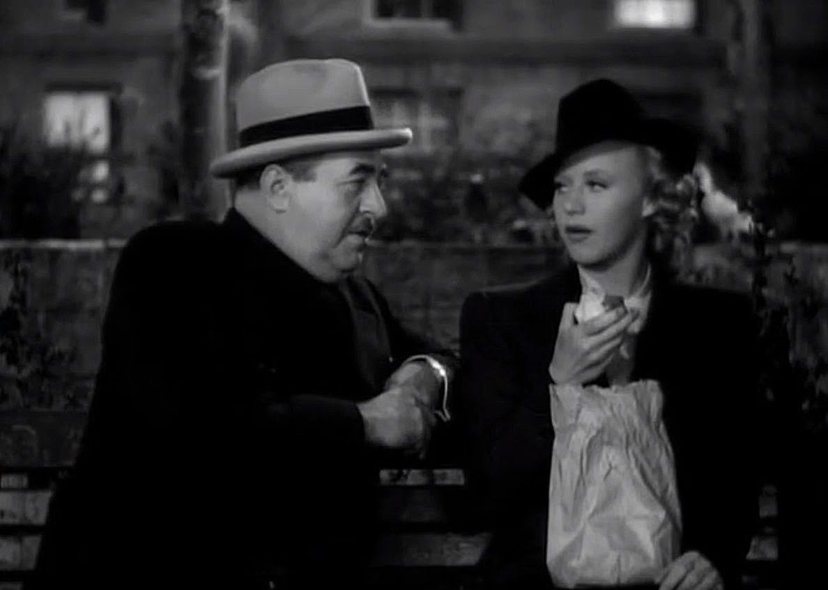 Ginger Rogers and Walter Connolly in Fifth Avenue Girl (1939)