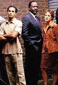Kelly Coffield Park, Shari Headley, Vincent Laresca, Jesse L. Martin, Karim Prince, Richard Roundtree, and Dawn Stern in 413 Hope St. (1997)
