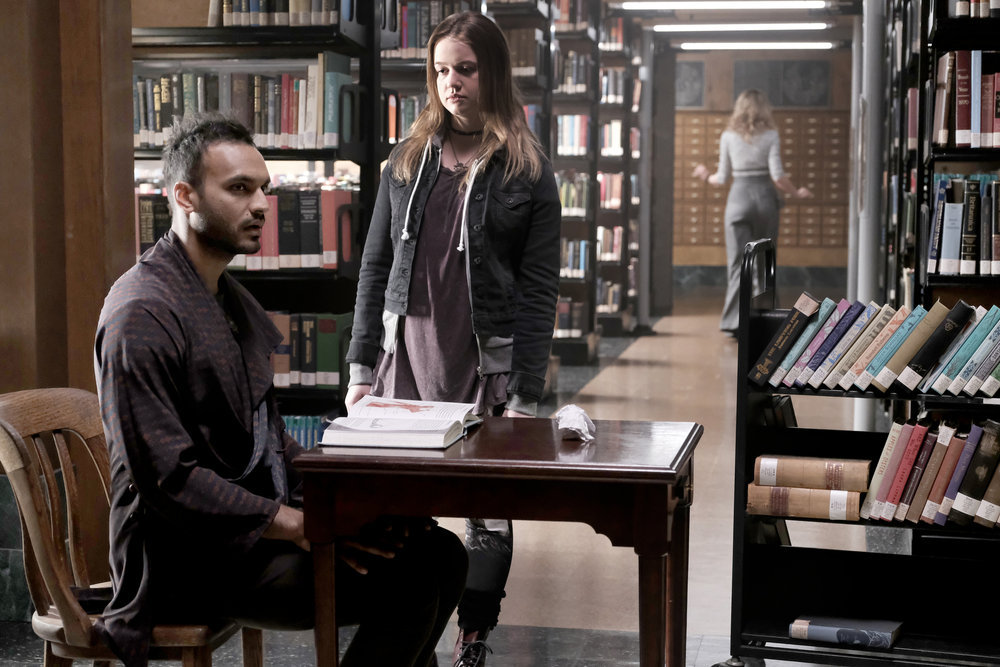 Mageina Tovah, Roan Curtis, and Arjun Gupta in The Magicians (2015)