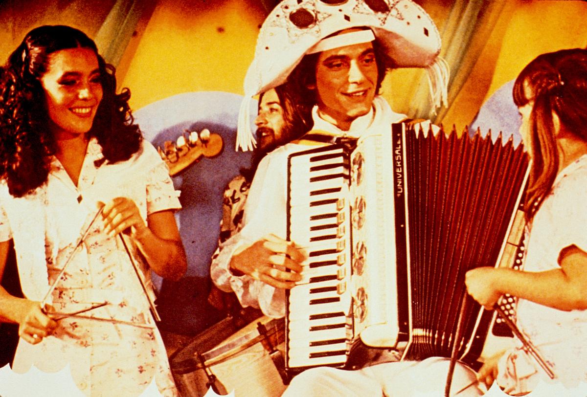 Fábio Jr. and Zaira Zambelli in Bye Bye Brasil (1980)