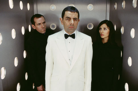 Rowan Atkinson, Natalie Imbruglia, and Ben Miller in Johnny English (2003)